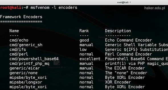 msfvenom encoders - zmniejszanie wykrywalności wirusów crypterem