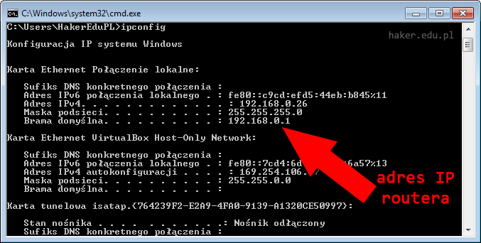 Jak sprawdzić adres ip routera