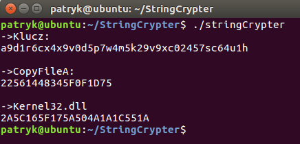 encrypt String function in C++